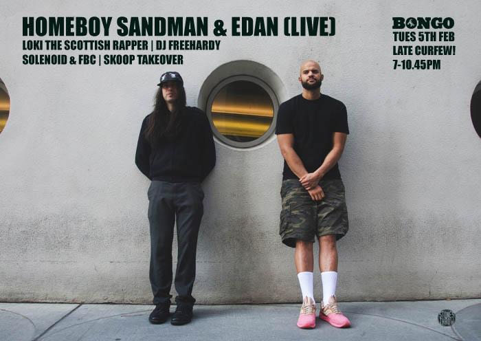 e1af8136d28133 HOMEBOY SANDMAN   EDAN (LIVE) - The Bongo Club