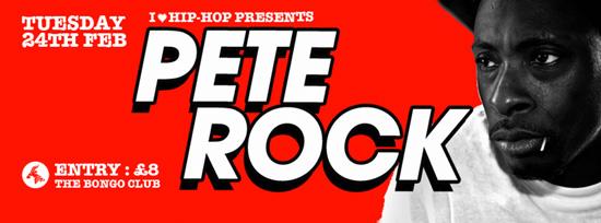 Pete Rock at I Love Hip Hop banner