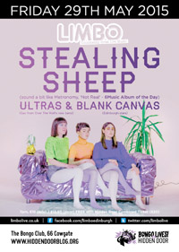 LIMBO: STEALING SHEEP, ULTRAS & BLANK CANVAS: TIX AT DOOR (£12.50)